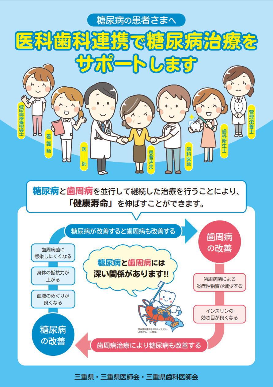医科歯科連携で糖尿病治療をサポートします